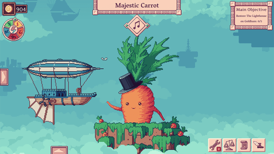 Merchant of the Skies screenshot - Majestic Carrot with a top hat