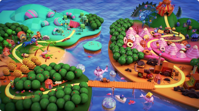 Ayo The Clown - bright and colourful world map