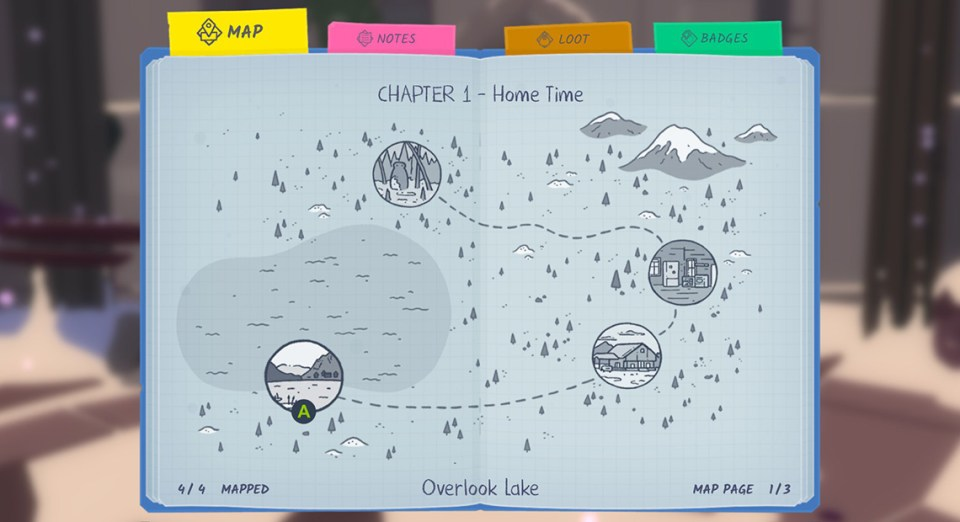 Roki - Tove's journal open to the map