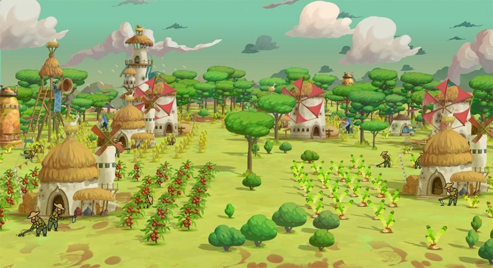 A thriving village