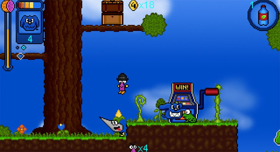 Our character and some enemies in Juiced!