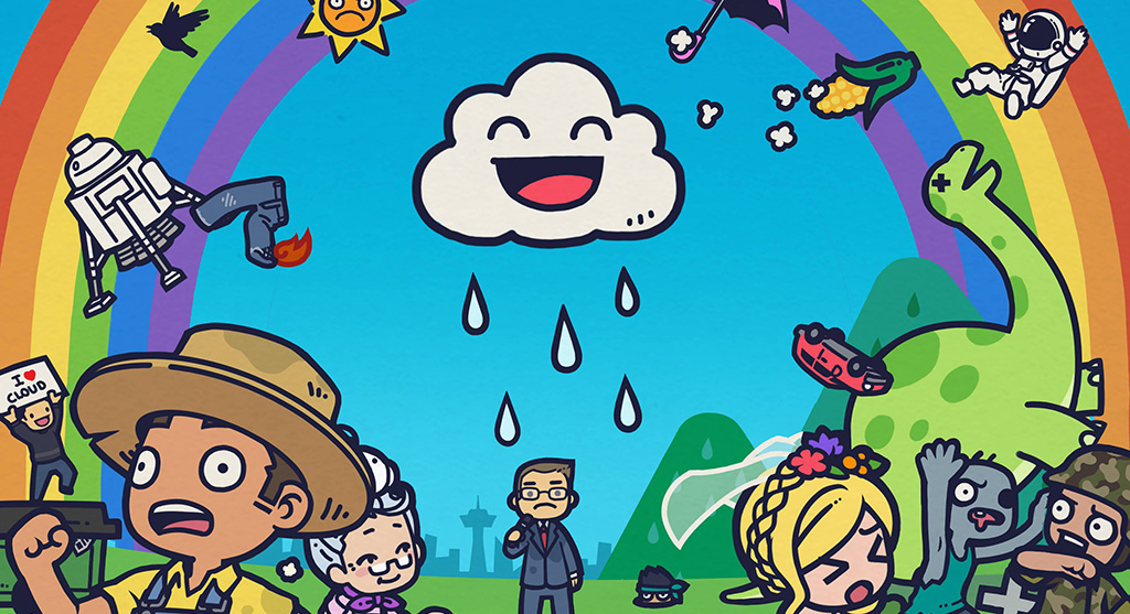 A cloud causing havoc in April indie game releases Rain on your Parade.