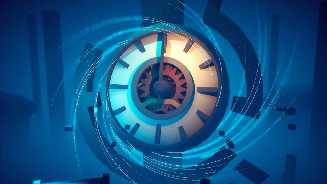 A clock spinning in Timelie