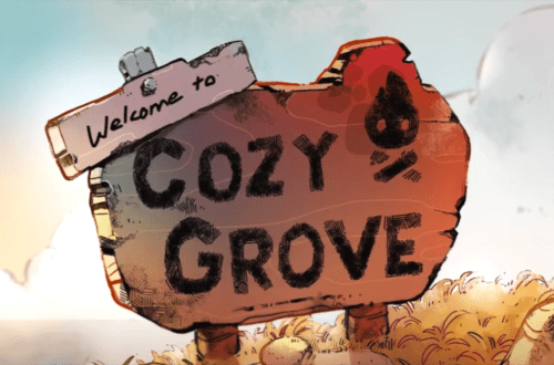 Welcome to Cozy Grove sign