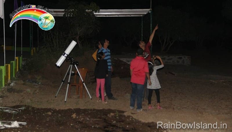 star gazing night at rainbow island near pune