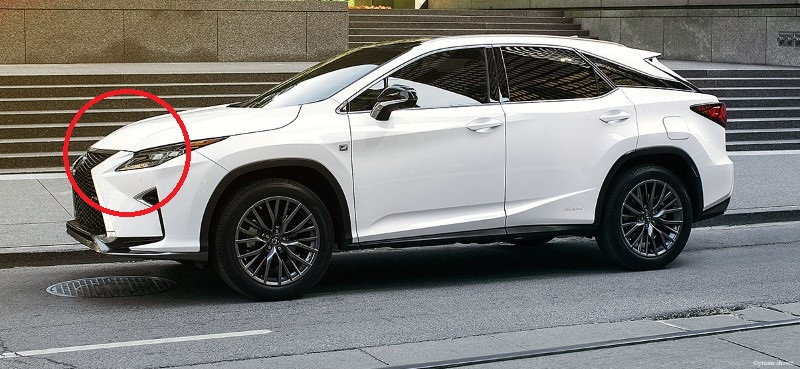 2020 Lexus RX 350 White Colors Trims