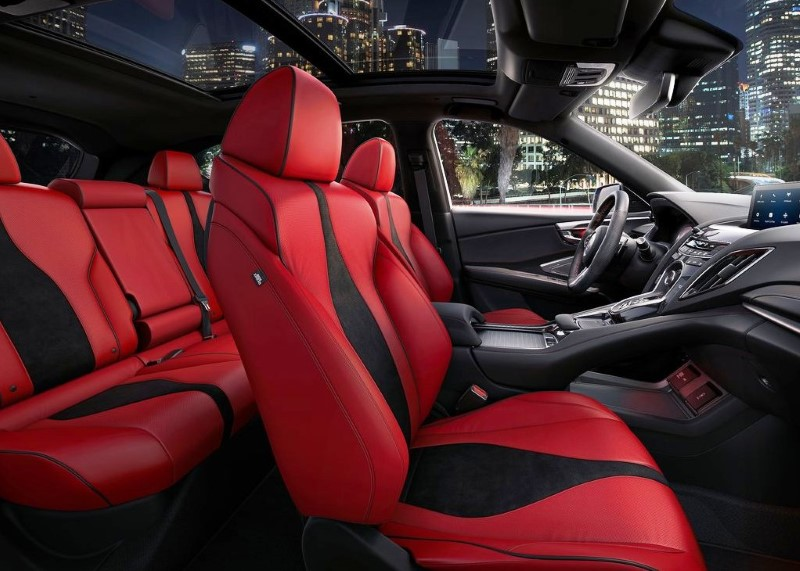 2020 Acura RDX Interior With Red Leather Sporty Color