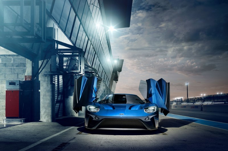 2020 Ford GT Blue Colors