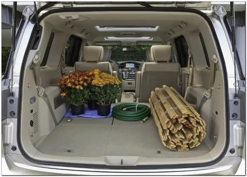 2021 Nissan Quest Mini Van Trunk Capacity