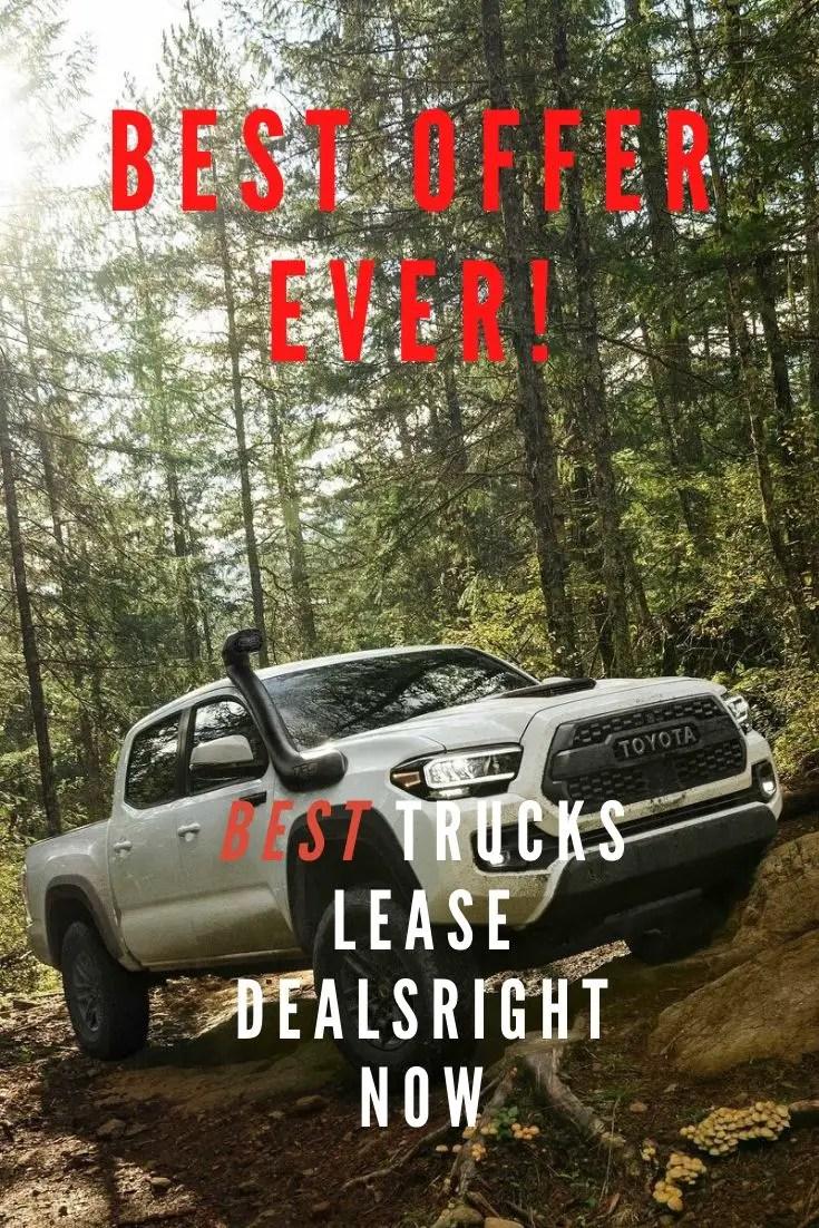 Best Truck Lease Deals in 2020