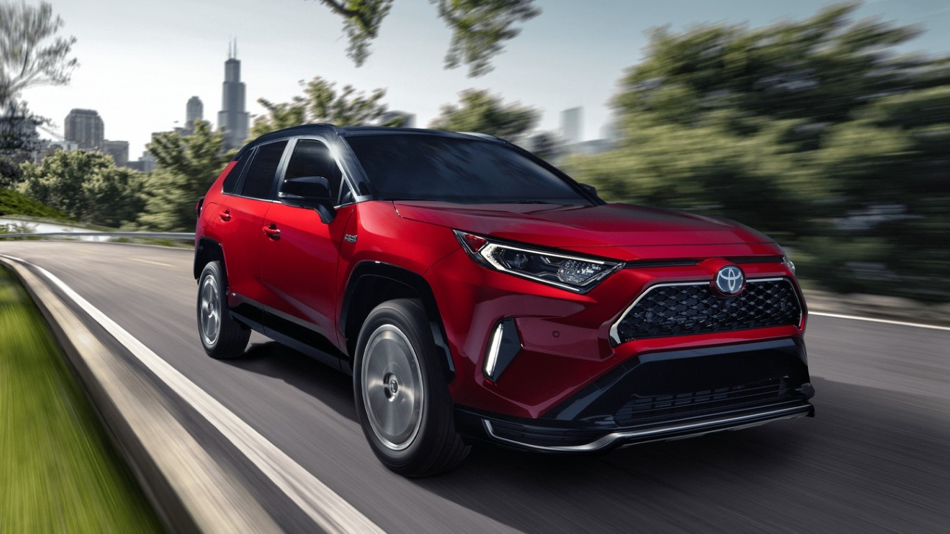 2021 Toyota Rav4 Prime Supersonic RED With Midnight Black Metalic Roof