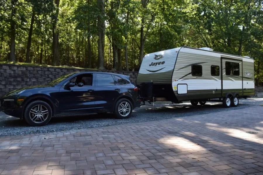 Porsche Cayenne Tow a travel Trailer