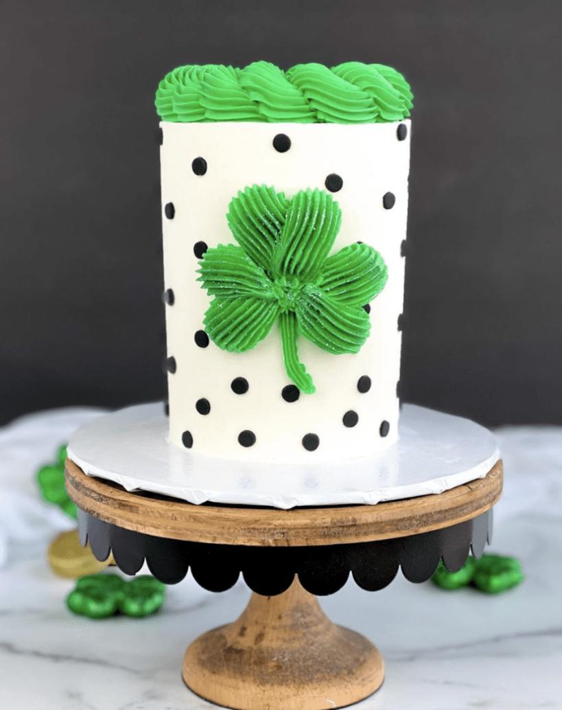 Polka Dot Shamrock Cake
