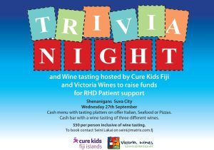 Poster for Trivia Night & Wine Tasting 27 Sept 2017