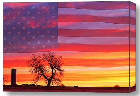 I am Thankful To Be An American Canvas Art