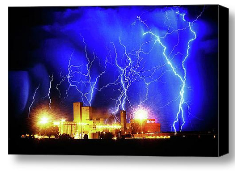 Budwesier Storm HDR Stretched Canvas Print / Canvas Art