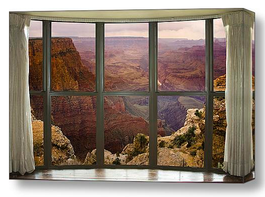 Grand Canyon Bay Window View Interior Planning and Art Work Character Photography