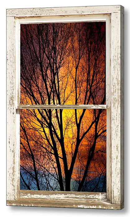 Sunset Into The Night Window View 3 Discover Beauty of Windows Scenic Views With Window Fine Art Prints