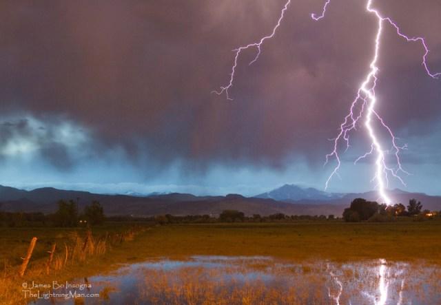 Lightning Striking Longs Peak Foothills 5aa800s Lightning Striking Longs Peak Foothills 5 Boulder County CO