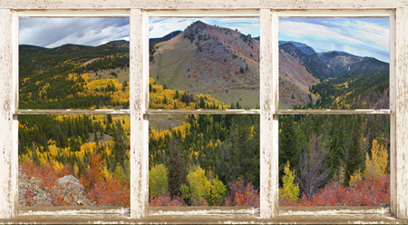 Colorful Colorado Autumn Rustic WT Window View 450 For Immediate Release New Picture Windows Fine Art With a View