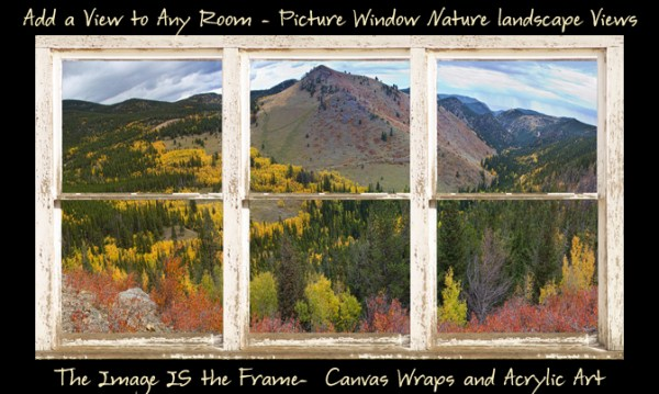 Colorful Colorado Rustic Window View