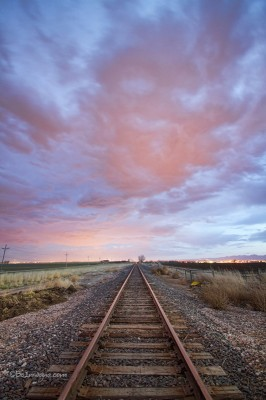 Railroad Tracks Into the Sunset