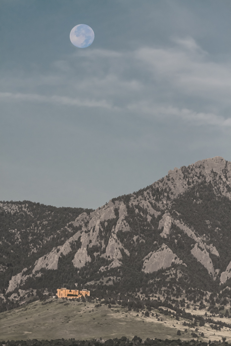 Blue Moon Over NCAR Boulder Colorado Art print