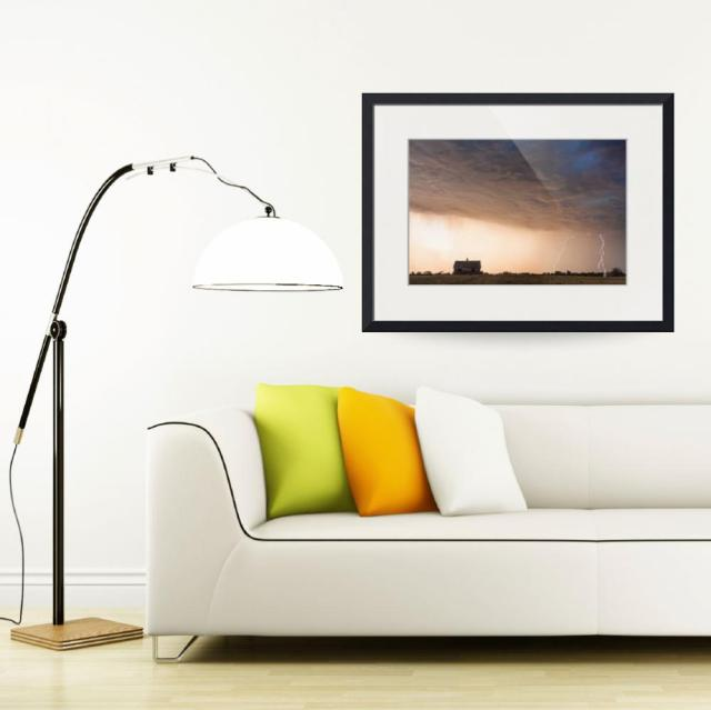 Lightning-Striking-On-the-Colorado-Prairie-Plains cnvas art