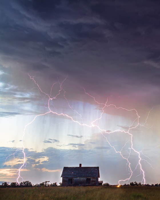 Positive Pink Lightning and Little House On the Prairie Art