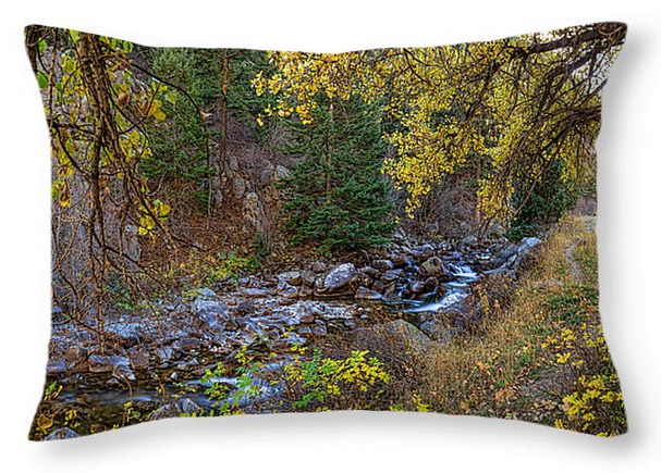 "Boulder Creek Autumn View Throw Pillow 20"" x 14"""