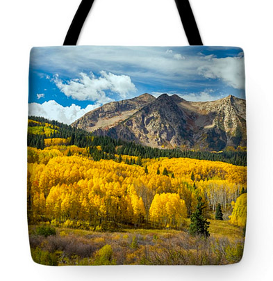 Colorado Rocky Mountain Fall Foliage Tote Bag 18x18