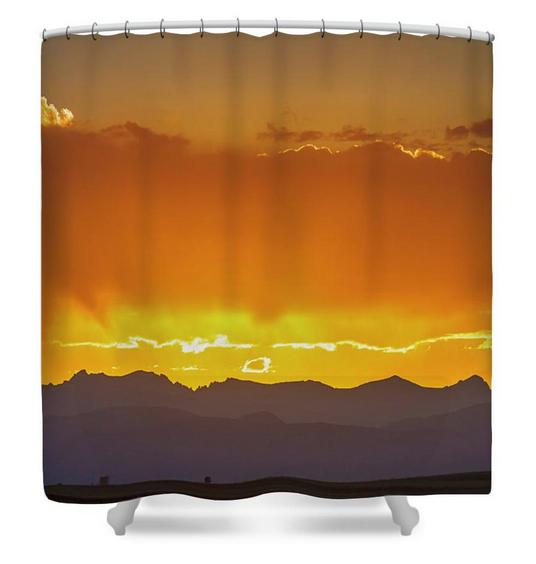 Colorado Rocky Mountains Golden September Sunset Sky Shower Curt