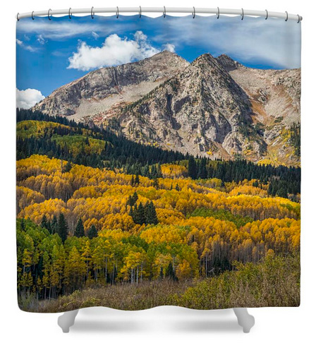 Rocky Mountain Autumn Season Colors Shower Curtain