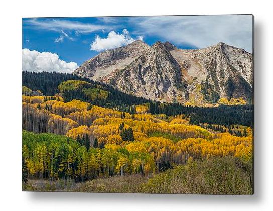 Rocky Mountain Autumn Season Colors Acrylic Print
