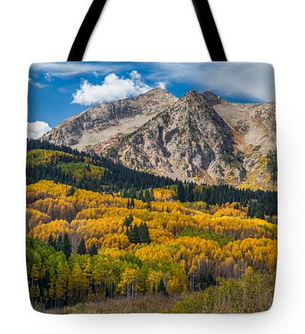 Rocky Mountain Autumn Season Colors Tote Bag