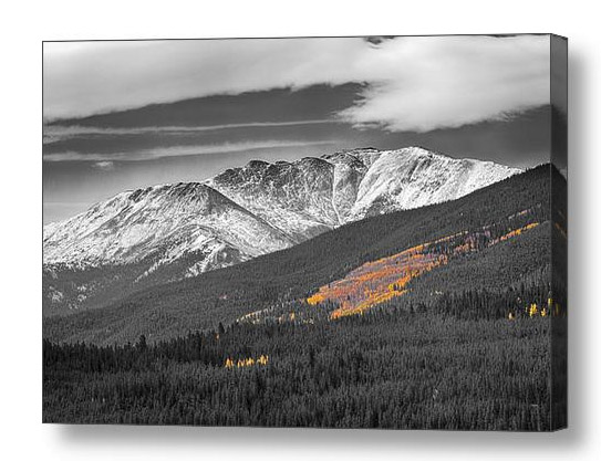 Rocky Mountain Independence Black And White Selective Canvas Pri