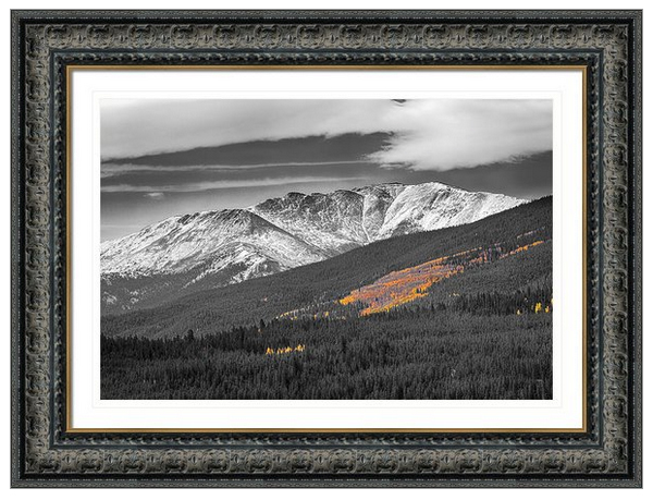Rocky Mountain Independence Black And White Selective Framed Pri