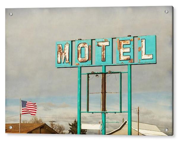 American Retro Motel Sign Acrylic Print
