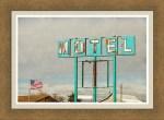 American Retro Motel Sign Framed Print