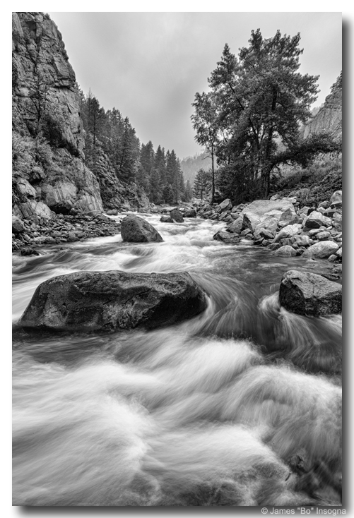 Colorado Black and White Canyon Portrait