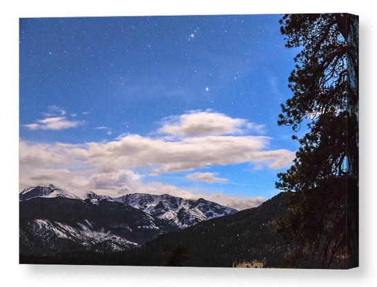 Rocky Mountain Evening View Canvas Print