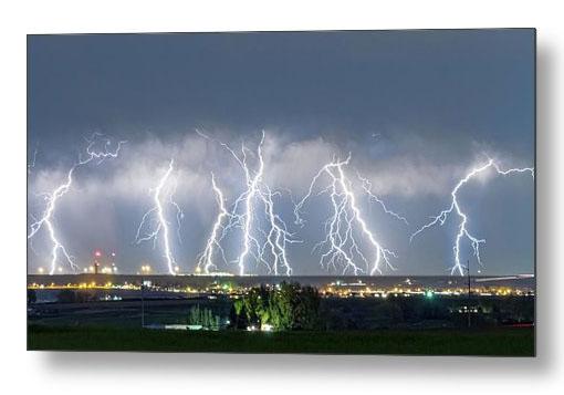Severe Thunderstorm Panorama Metal Print