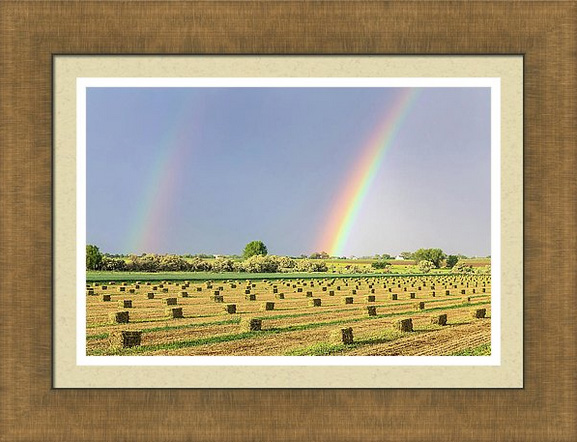 Just Another Country Rainbow Framed Print