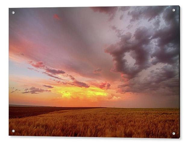 Colorado Eastern Plains Sunset Sky Acrylic Print