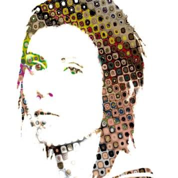 Portrait Art Abstract Tegan Quin