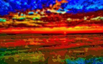 Art Landscape Sunset Ocean