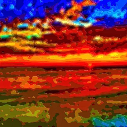 Art Print Landscape Sunset Ocean