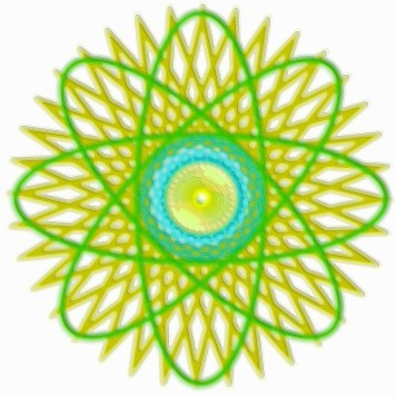 Spirograph Layer Art Green Twist