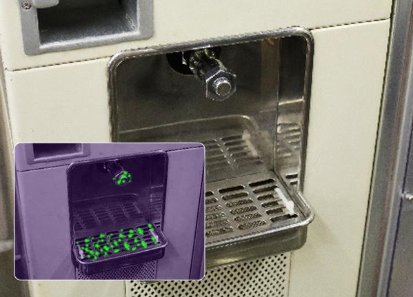 ウォーターサーバ給水口洗浄に