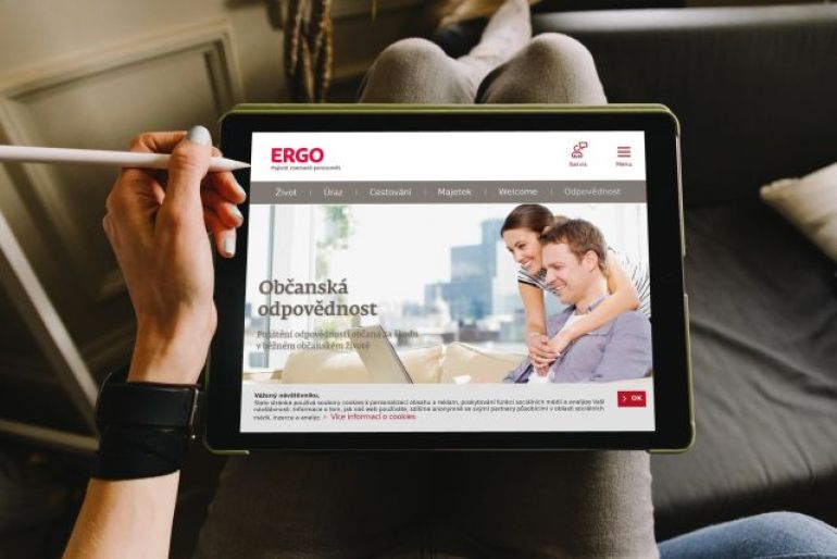 notebook, pojištění online, Ergo